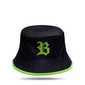 Bucket Hat Black Logo Green/All Green