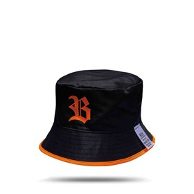Bucket Hat Black Logo Orange/All Orange
