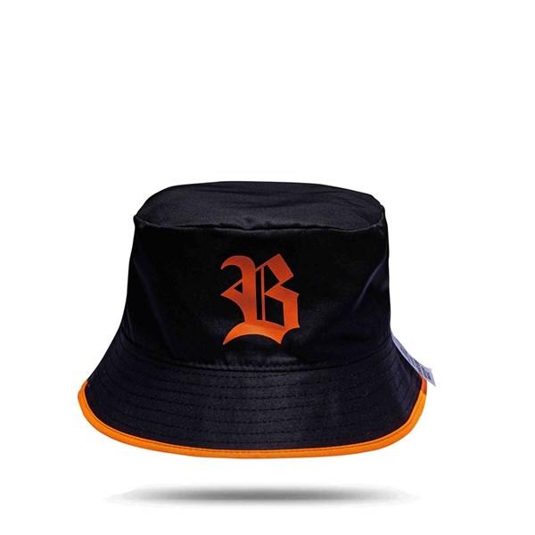Bucket Hat Black Logo Orange/All Orange
