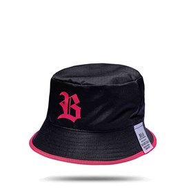 Bucket Hat Black Logo Pink/All Pink