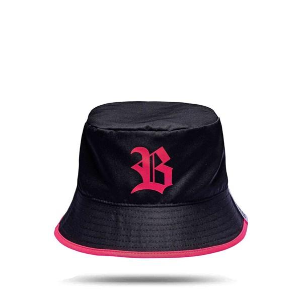 Bucket Hat Black Logo Pink/All Pink