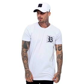 Camiseta Blck All White Logo Side Black