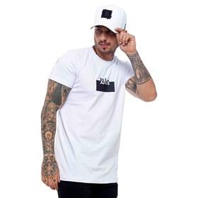 Camiseta Blck All White Logo Silk Black White