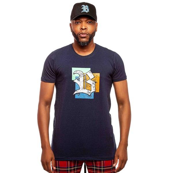 Camiseta Blck Logo Frames Navy Blue