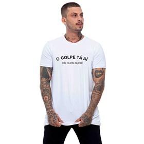 Camiseta O Golpe Tá Aí Branca - Dj Guuga