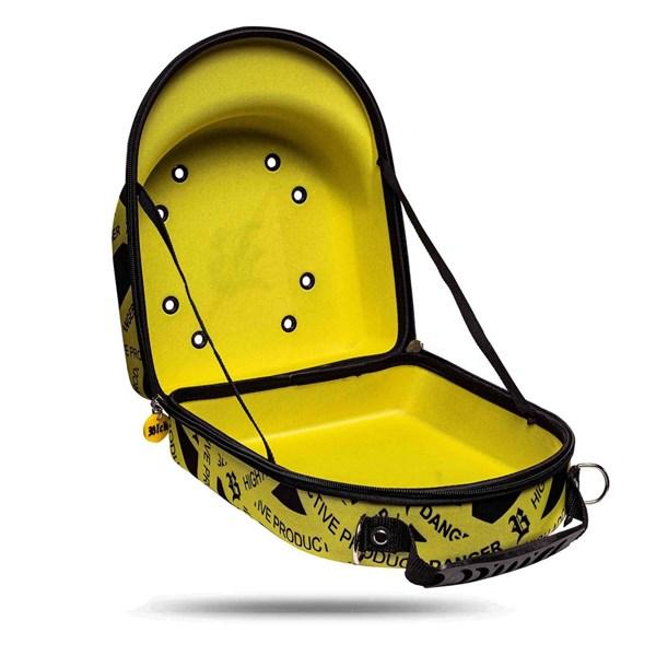Case Cap Blck Warning Yellow