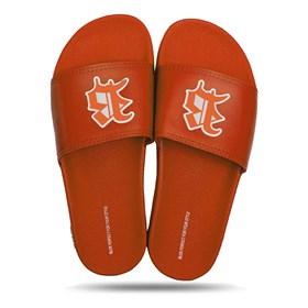 Chinelo Splash All Orange Logo White