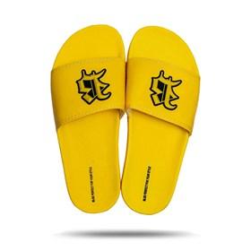Chinelo Splash All Yellow Logo Black