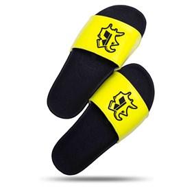 Chinelo Splash Amarelo Fluor Logo Preto