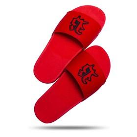 Chinelo Splash Vermelho Logo Preto