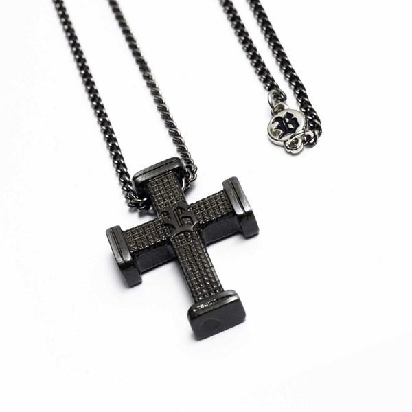 Corrente Blck Crucifixo Prata Old