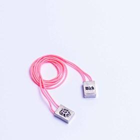 Escapulário Pink Logo Silver