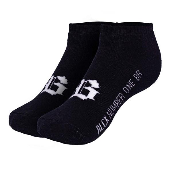 Meia Blck Logo B Black