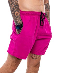 Shorts Blck Tag Number One Pink