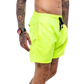 Shorts Blck Tag Number One Yellow Flúor