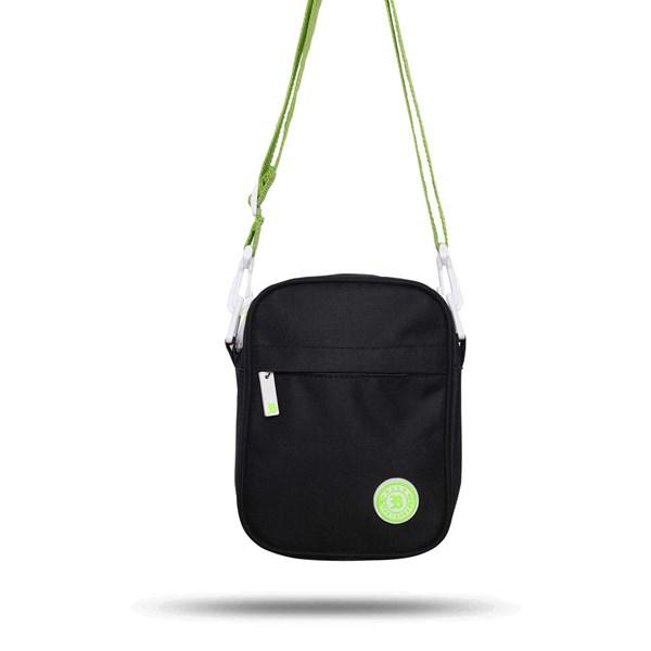 Shoulder Bag Blck Black Logo Green